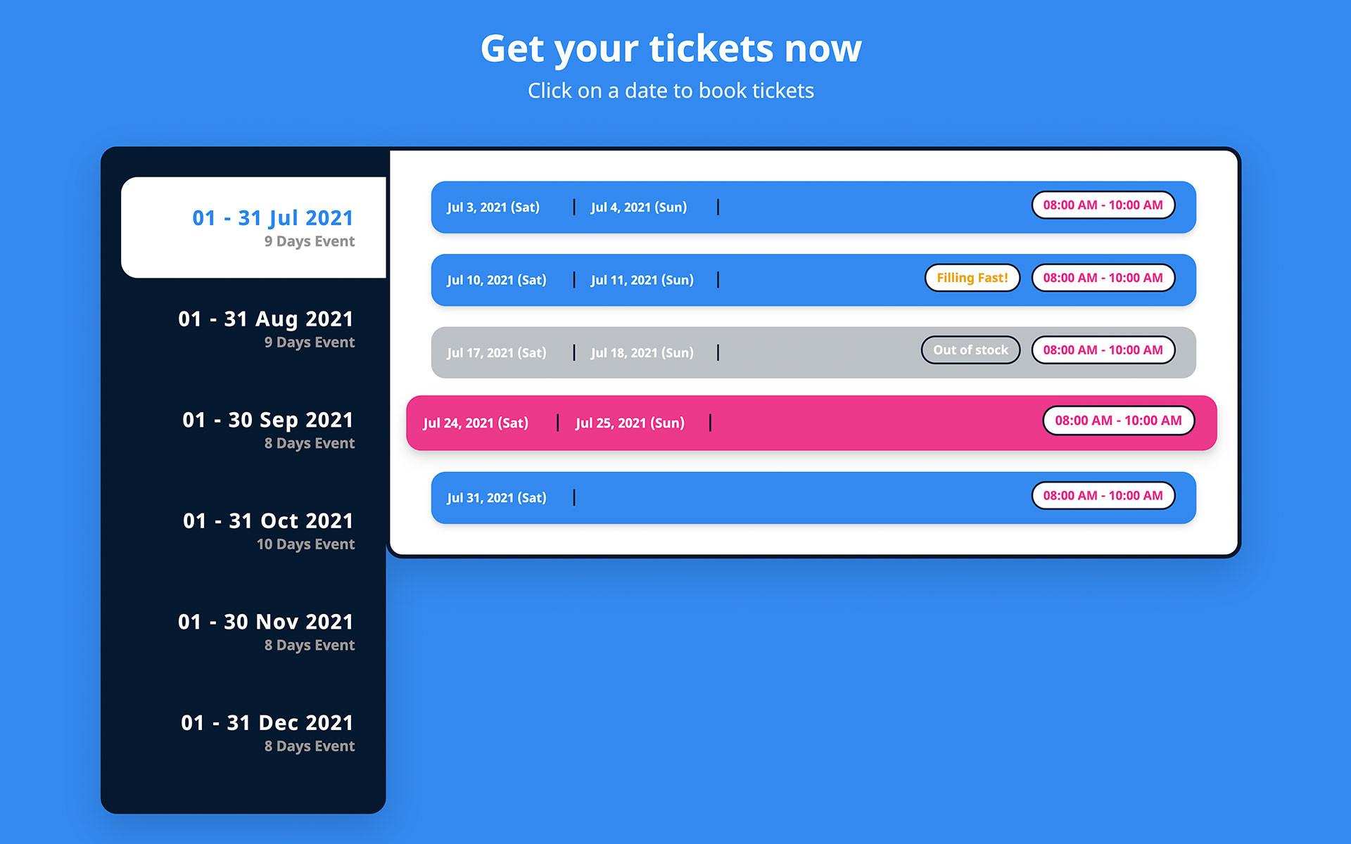 Timeslots availability check