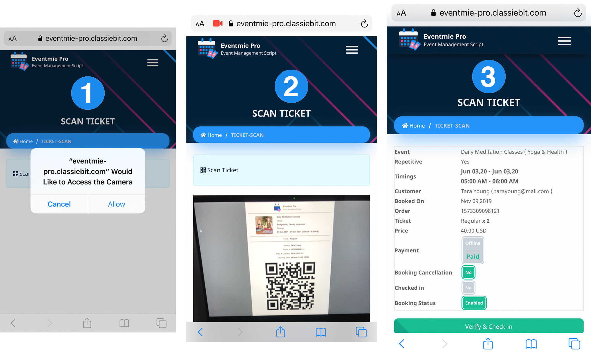 Integrated Ticket Scanner