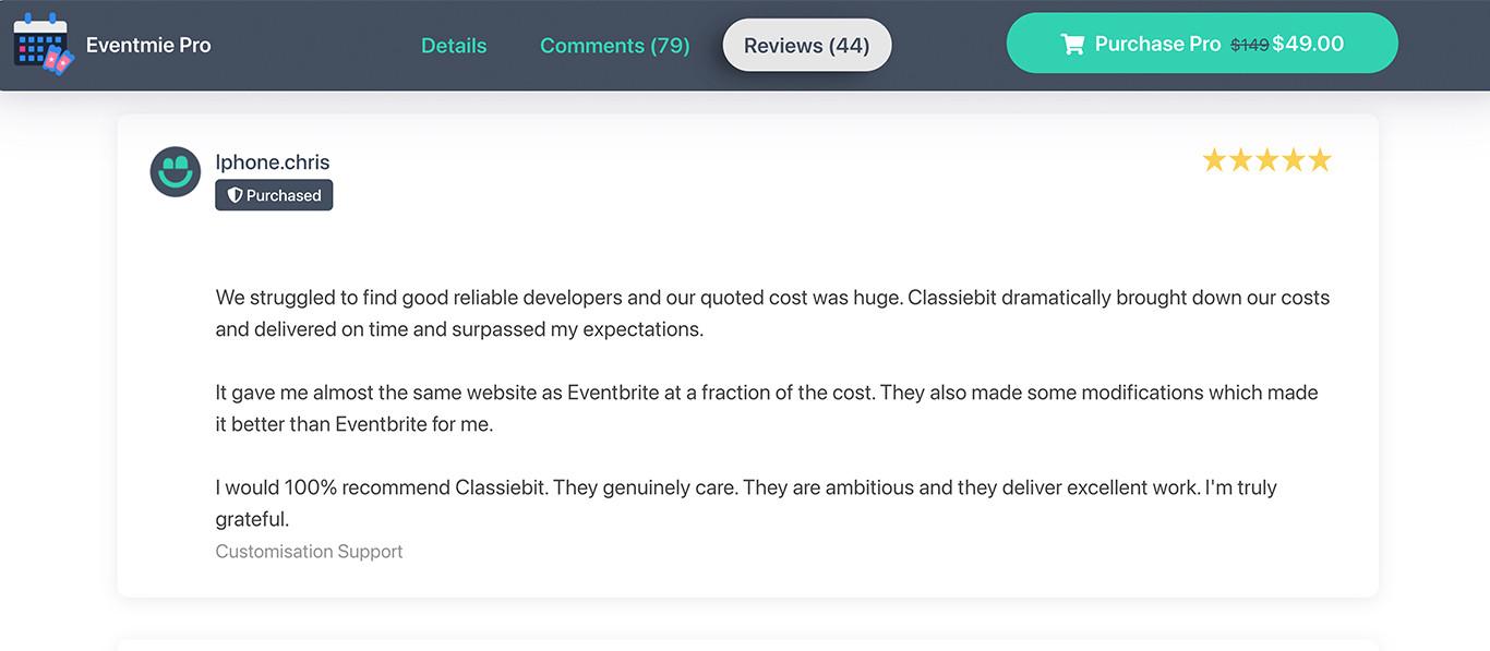 Eventmie Pro reviews