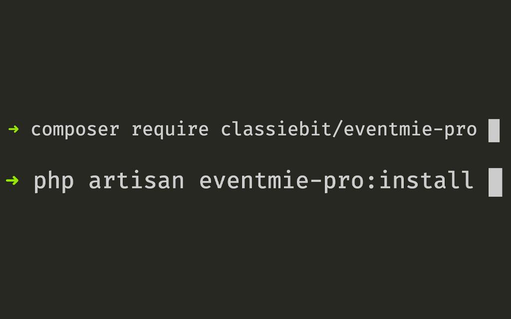 eventmie-Install via Composer