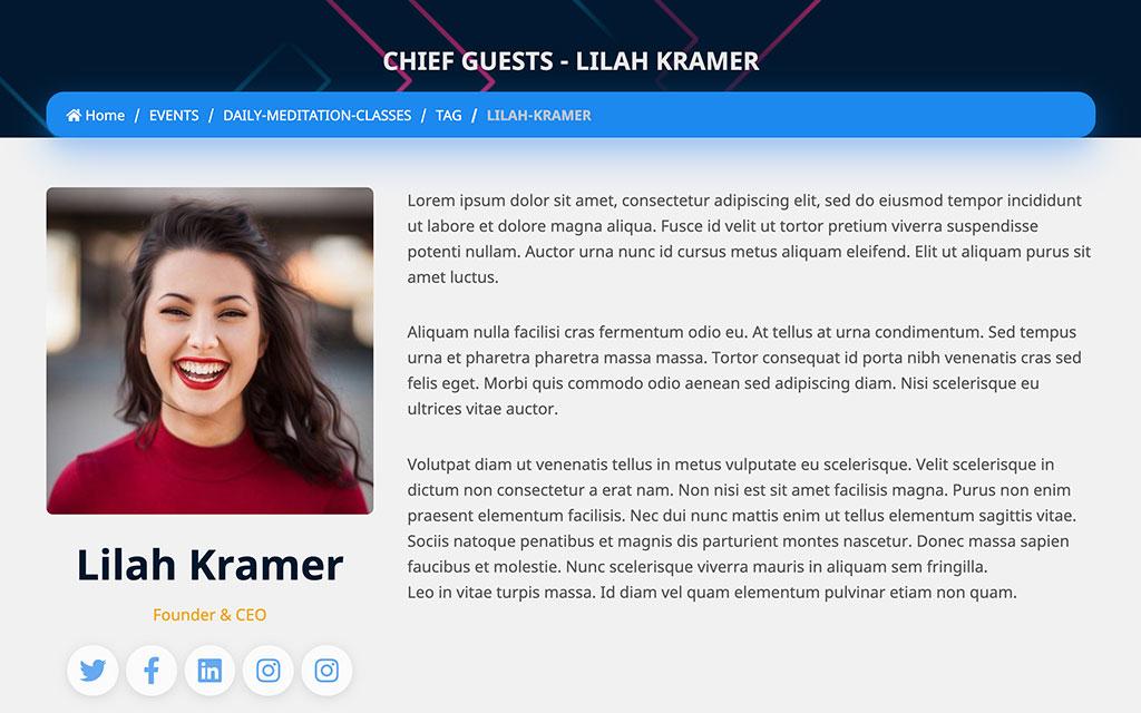 eventmie-Event Speaker Profiles
